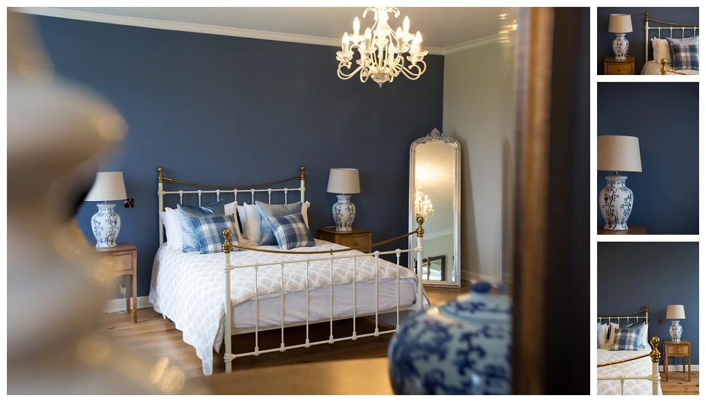 the Blue Room at Rockbeare Manor
