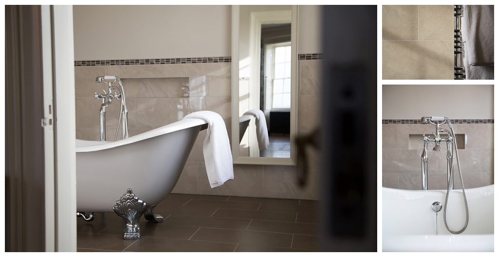 luxurious bathroom at rockbeare manor