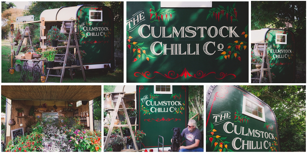 Siplay stand for Culmstock chilli company, converted horsebox, commercial photography
