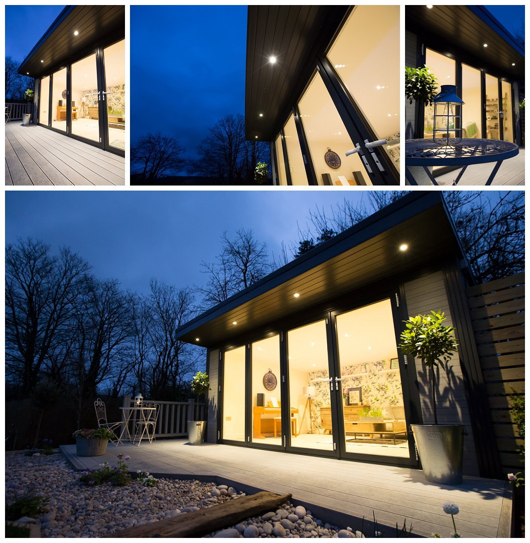 Garden rooms at night Night photography, evening shots, nighttime buildings, studio lighting, low light photography