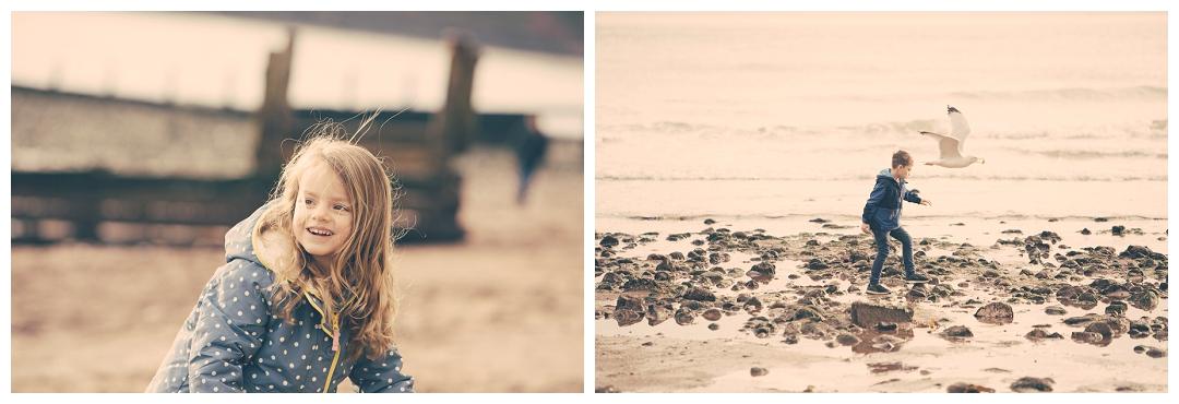 beach portraits for children devon