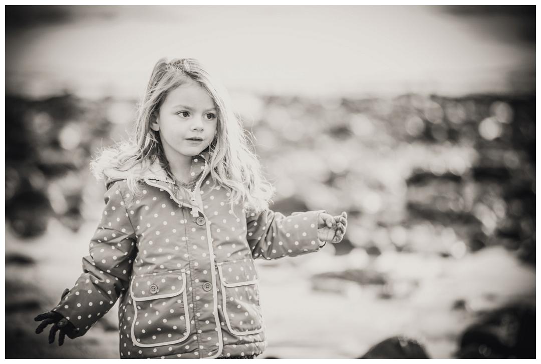 Black and white child portraits
