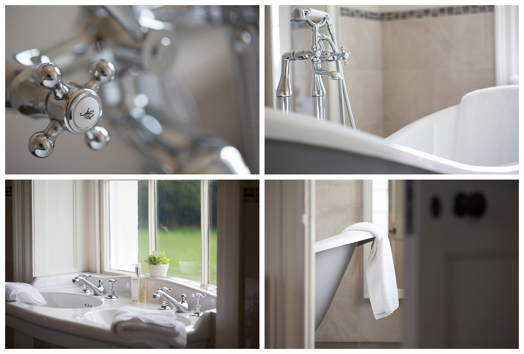 luxurious bathroom at rockbeare manor
