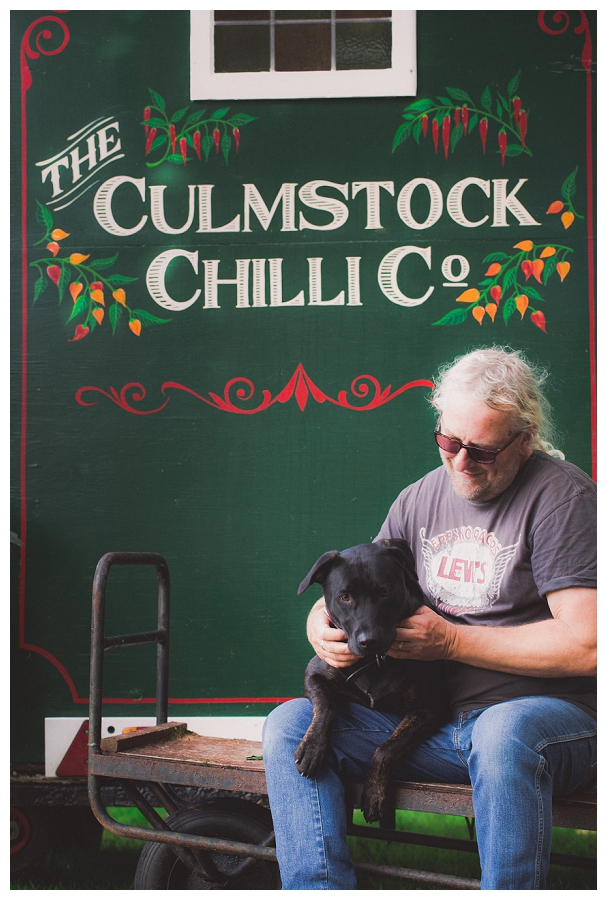 Environmental portrait of Nigel at Culmstock Chilli Company. Taken on a commercial shoot with Perspectives Photography