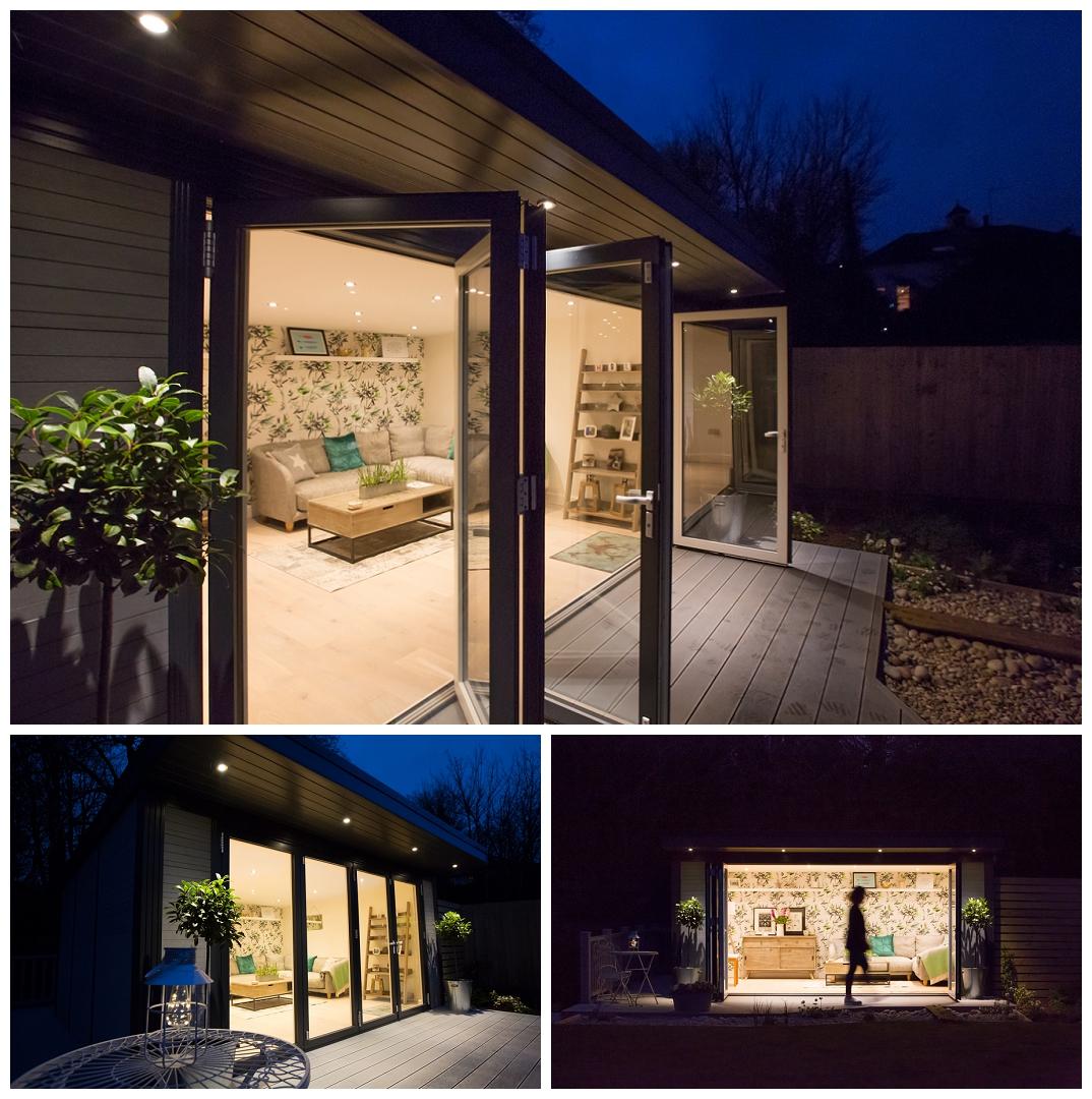 Halls Garden Living, night photography